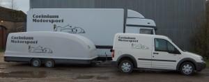 Corinium Motorsport transport